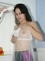 sheer lesbian love in shower