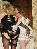 girl on girl panty and nylon play