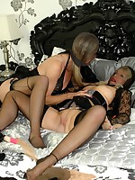 lesbo nylon and toy play