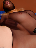 Black Pantyhose Encasement Blowjob