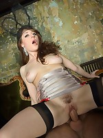 Kinky British beauty gets gangbanged really hard
